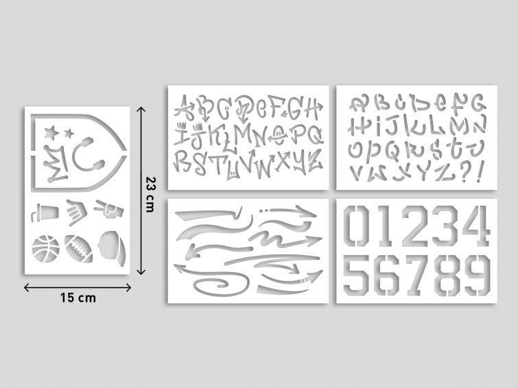 Pilot Zestaw DIY: 3 markery Pintor + 5 szablonów (PISW-PT-SET3)
