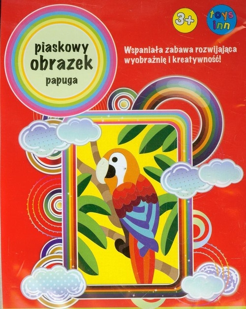 Piaskowy obrazek Papuga