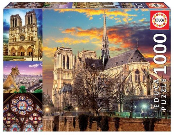 Puzzle 1000: Kolaż Notre Dame (18456)