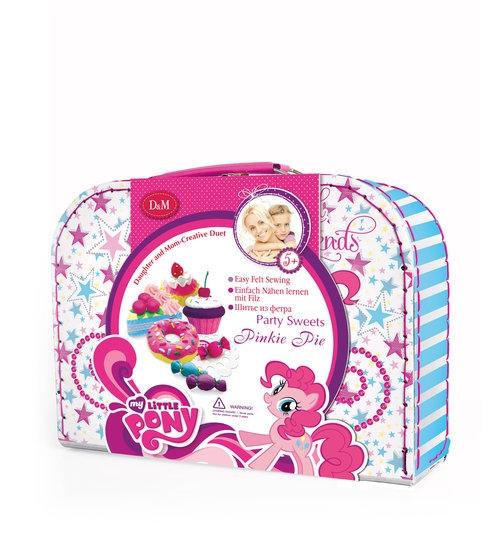 Walizka z filcowowymi słodyczami Pinkie Pie do uszycia