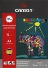 Blok techniczny A4 Canson z kolorowymi kartkami 10 katek Słoń