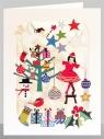 Karnet XP56 wycinany + koperta Święta Dziewczynka