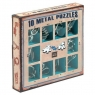 Łamigłówki metalowe 10 sztuk zestaw niebieski (105895)