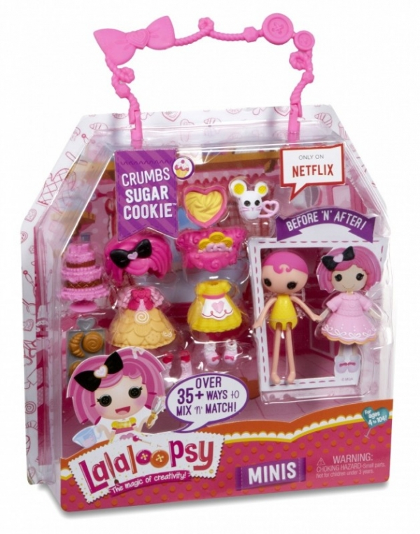 LALALOOPSY Lalka Mini W1, Crumbs Sugar Cookie (542933/546566)