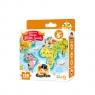 CzuCzu: Kieszonkowe Puzzle - Mapa Świata (CZU336566) Dla dzieci 5+