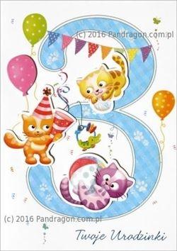 Karnet 3 urodziny HM-200-983 .