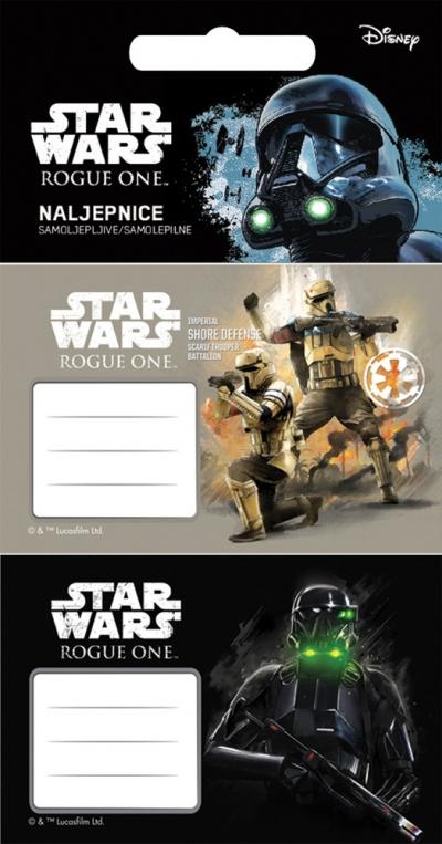 Etykiety Star Wars 10pcs na blistrze Eurocom