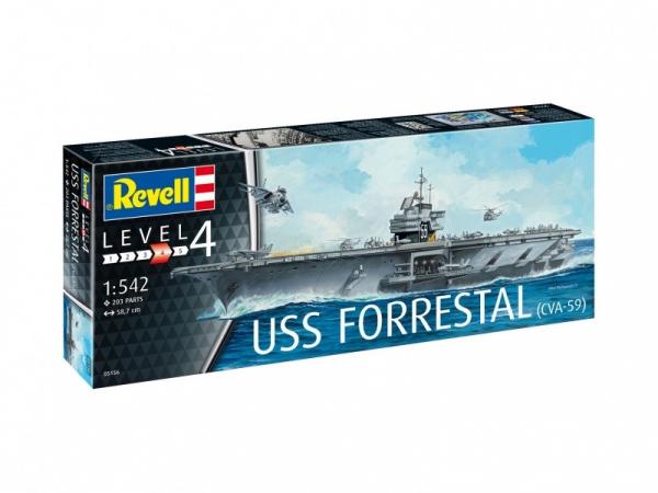 Model plastikowy Lotniskowiec USS Forrestal (05156)