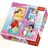Puzzle 4w1 Z przyjaciółmi Disney Princess (34256)