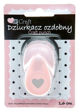 Dziurkacz ozdobny/kreatywny 1,6cm - serce (JCDZ-105-023)