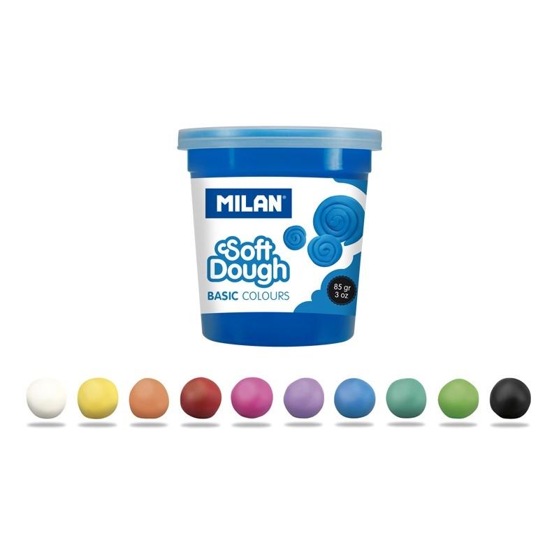 Ciastolina Milan Basic, 10 kolorów x 85 g (913510B)