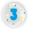 """Balon 45 cm - """"Cyfra 3"""" niebieski (TB 3603)"""