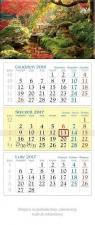 Kalendarz trójdzielny 2017 Mostek