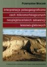 Interpretacja paleogeograficzna cech mikromorfologicznych naoplejstoceńskich Mroczek Przemysław