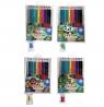 Kredki ołówkowe Astrino dwustronne 12 sztuk = 24 kolory + temperówka (312116003)