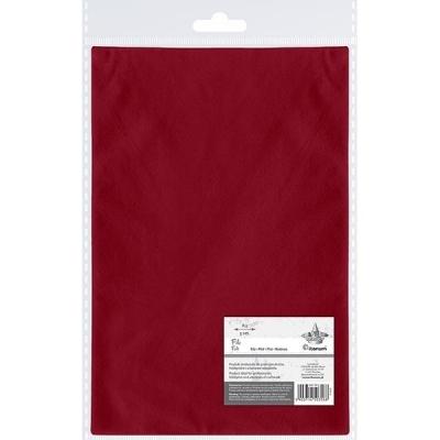 Filc A3, 5 arkuszy - czerwony ciemny (442198)