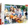 Puzzle 1000: Psy w ogrodzie (10556)