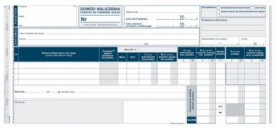 Druk samokopiujący Michalczyk i Prokop Dowód naliczenia podatku od towarów i usług (faktura wewn.) wewnątrzwspólnotowe nabycie towarów 1/3 A3 80k. (168-2E)