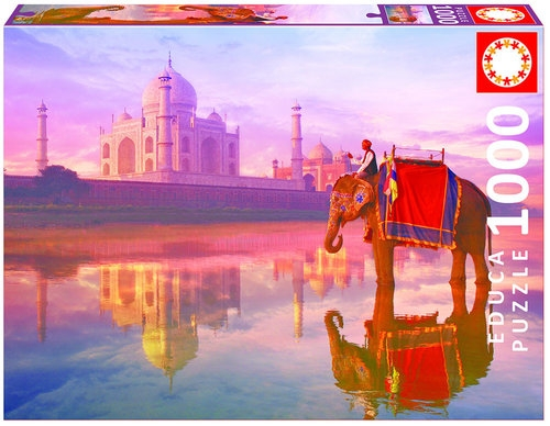 Puzzle Słoń przed Tadź Mahal  1000  (16756)