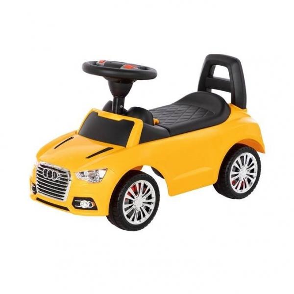 Jeździk samochód z sygnałem. Żółty (84569)