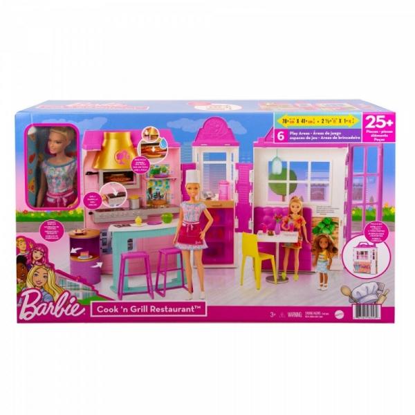 Zestaw lalka Barbie Restauracja (HBB91)