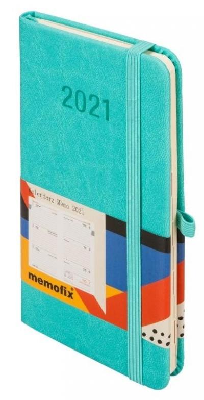 Kalendarz 2021 Memofix A6 Turkusowy TDW ANTRA
