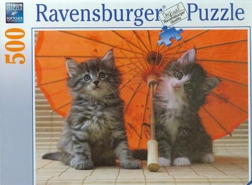 Puzzle 500 Kocięta pod parasolem (142569)