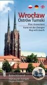 Wrocław. Ostrów Tumski - plan z krasnalami