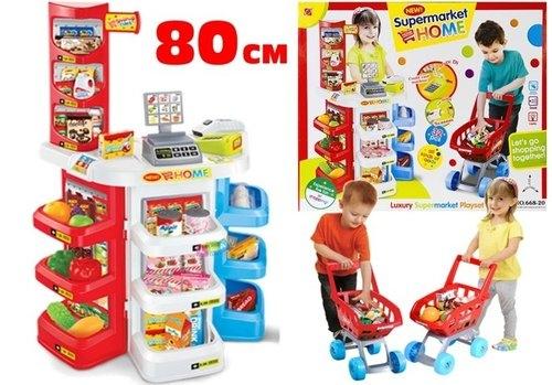 Supermarket waga czytnik kart + koszyk na zakupy