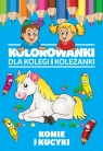 Kolorowanki dla kolegi i koleżanki Konie i kucyki