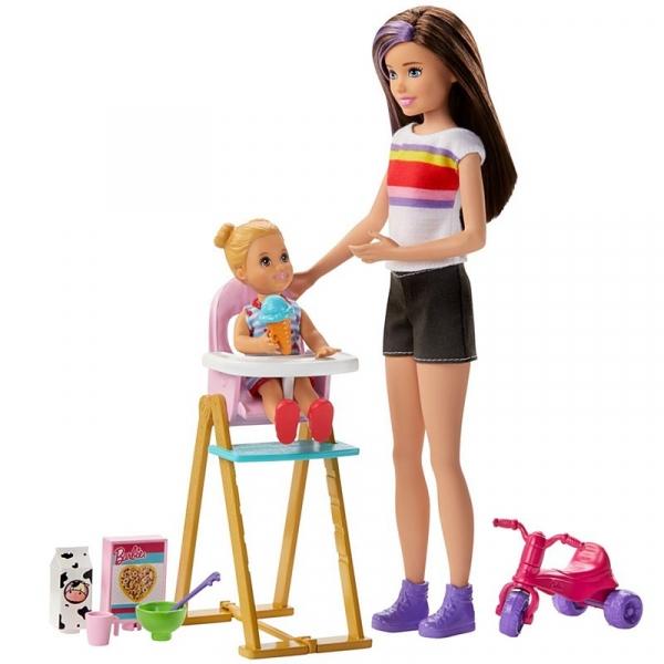 Barbie Skipper: Klub opiekunek - Zestaw Czas karmienia (GHV87)