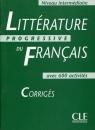 Litterature progressive du francais intermediaire 600 activites