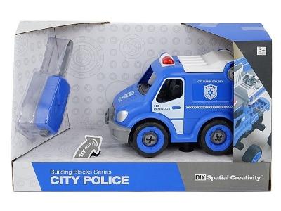 Samochód Adar policyjne do skręcania, ze śrubokrętem, z dźwiękiem (507074)