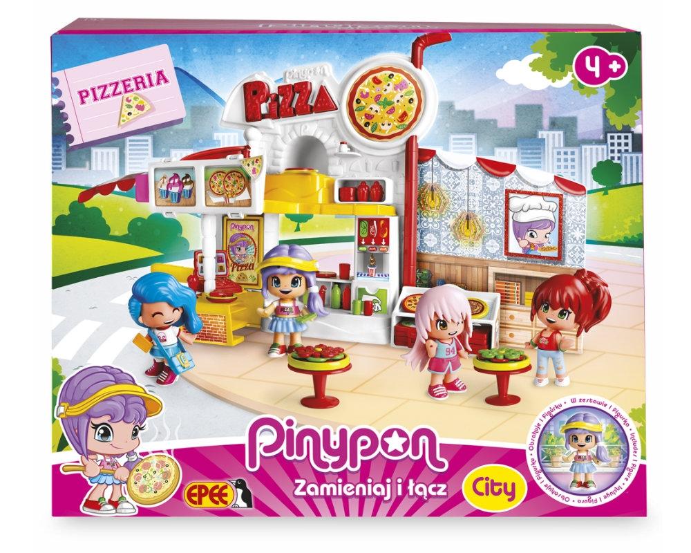 PinyPon City - Zestaw Pizzeria z laleczką 8cm i akcesoriami (14755)