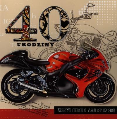 Karnet 40 urodziny kwadrat HM-200-724