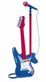 Gitara elektroniczna z amplitunerem i mikrofonem na statywie (7540)