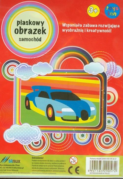Piaskowy obrazek Samochód