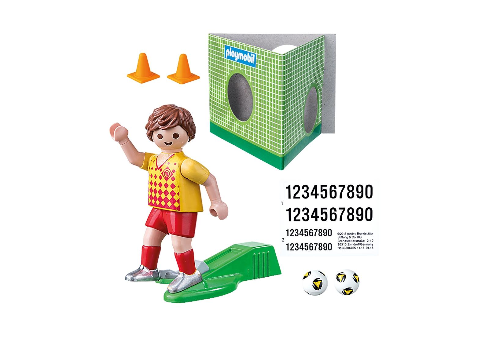Playmobil Special Plus: Piłkarz ze ścianką treningową (70157)