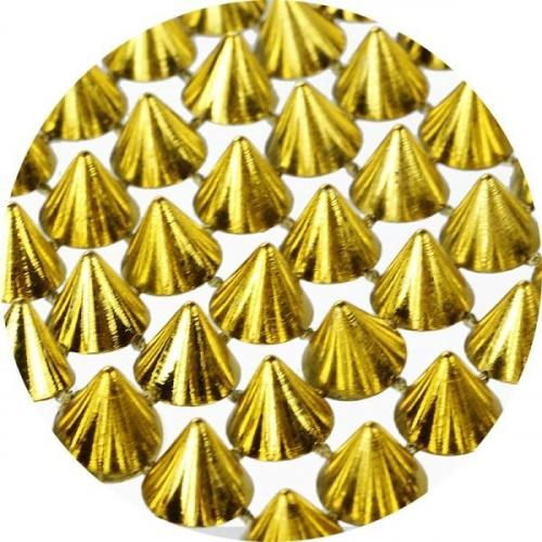 Dekoracja ćwieki plastikowe - złoty (363564)