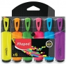 Zakreślacze Fluo Peps, etui 6 kolorów (742557)