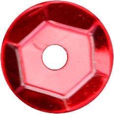 Cekiny okrągłe 7mm 14g - metaliczne czerwone (260077)
