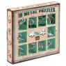 Łamigłówki metalowe 10 sztuk zestaw zielony (105896)