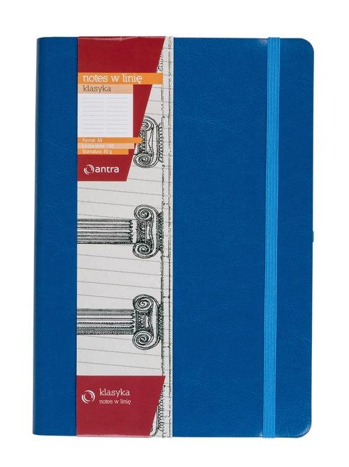 Notes A5 z gumką Klasyka niebieski