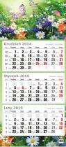Kalendarz 2017 KTT trójdzielny płaski