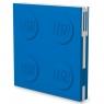Kwadratowy notatnik LEGO z długopisem - Niebieski (52257)