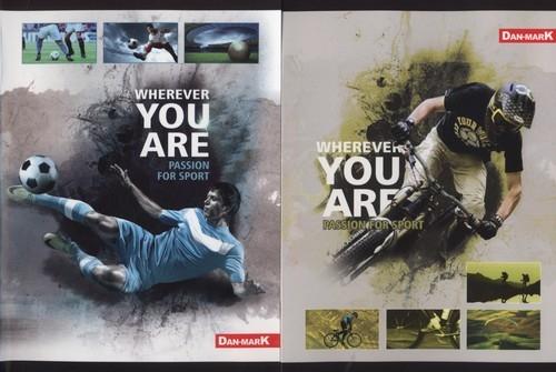 Zeszyt A5 w trzy linie 16 kartek Passion for sport 20 sztuk mix