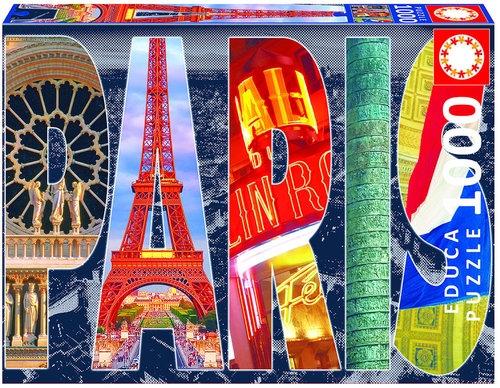 Puzzle Paryski kolaż 1000