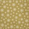 Serwetki BN snieżynki złote