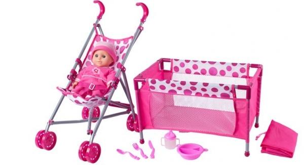 Zestaw lalka z wózkiem (91857)