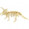 Puzzle drewniane 3D Triceratops